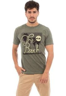 Camiseta Aes 1975 The Beach Masculina - Masculino-Verde