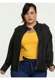 Jaqueta Feminina Zíper Plus Size Marisa