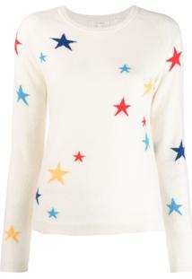 Chinti & Parker Suéter Com Estampa De Estrelas - Branco