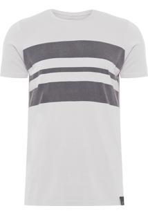 Camiseta Masculina Fine Colorblock - Cinza