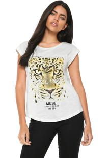Camiseta Mng Barcelona Tigre Bege