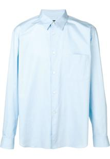 Comme Des Garçons Homme Plus Camisa Mangas Longas - Azul