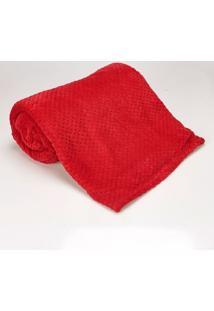 Cobertor Casal 1,80M X 2,20M Dobby Cereja