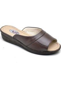 Tamanco Top Franca Shoes Conforto Feminino - Feminino-Cafe