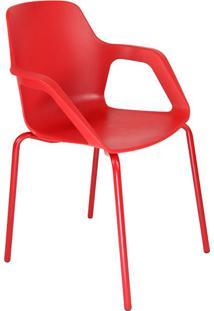Cadeira De Cozinha Com Braço Beau Vermelha