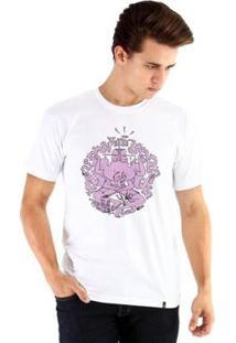 Camiseta Ouroboros Manga Curta Mantra - Masculino-Branco