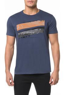 Camiseta Ckj Mc Estampa Imagem Recortes - P