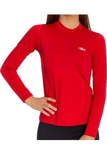 Camiseta Térmica Manga Longa Mprotect Vermelha