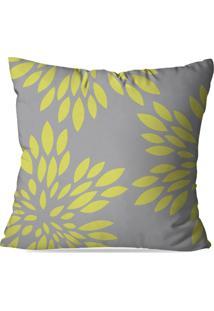 Capa De Almofada Love Decor Geometric Folhas Multicolorido Cinza