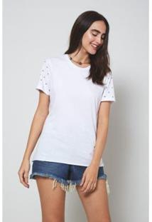 Camiseta Oh,Boy! Brilho Feminina - Feminino-Branco
