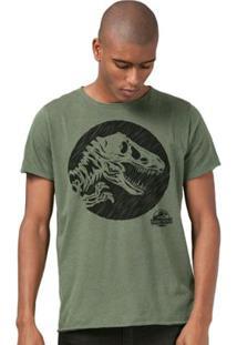 Camiseta Bandup! Jurassic World Dino - Masculino-Verde