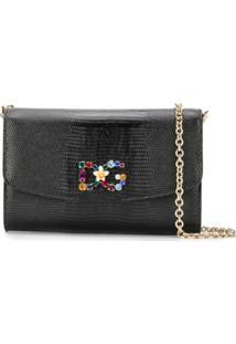 Dolce & Gabbana Bolsa Transversal Com Logo - Preto