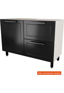 Balcão De Cozinha Black&White 1 Pt 2 Gv Preto