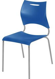 Cadeira Plã¡Stica New Azul Giobel - Azul - Dafiti
