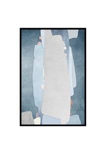 Quadro 75X50Cm Abstrato Textura Kolere Moldura Preta Com Vidro
