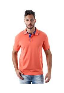 Camisa Polo Masculina Refined Coral