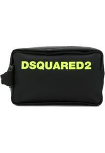 Dsquared2 Necessaire Com Patch De Logo - Preto