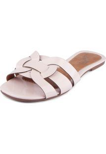 Rasteira Trivalle Shoes Verniz Nude
