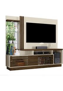 Estante Home Theater Para Tv Até 60 Pol. Frizz Plus Off White/Savana -