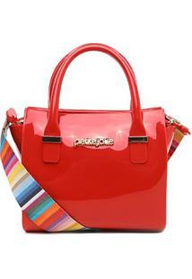 Bolsa Petite Jolie Handbag Love Feminina - Feminino-Vermelho