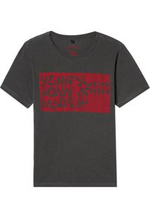 Camiseta John John Rg Dazed John Malha Cinza Masculina (Mescla Escuro, P)
