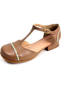 Sapato Miuzzi Taupe / Neo Mint Ref: 3201