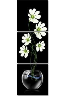 Quadro Oppen House 150X50Cm Margaridas Brancas Flores Decorativo Interiores