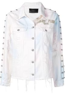 Philipp Plein Pp1978 Denim Jacket - Branco
