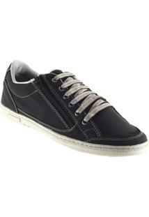 Sapatênis Doc Shoes Ziper. - Masculino-Preto