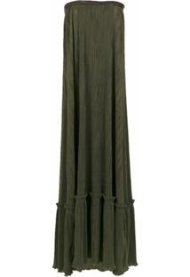 Adriana Degreas Vestido Tomara Que Caia Plissado - Verde