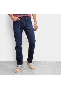 Calça Jeans Calvin Klein Five Pockets Straight Masculina - Masculino-Marinho