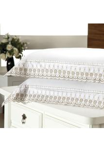 Fronha Avulsa Plumasul Luxury Percal 230 Fios 50X150Cm Branca