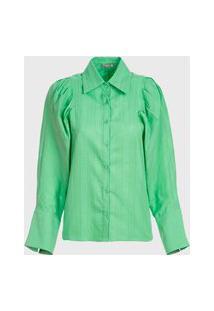 Camisa Vértice Manga Longa Verde