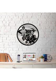 Escultura De Parede Wevans Mandala Bird + Espelho Decorativo
