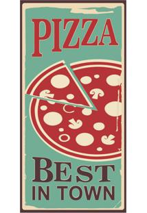 Placa Decorativa Pizza S Best 25X50 Cm Preto