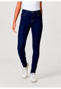 Calça Jeans Super Skinny Com Elastano Hering Feminina - Feminino-Azul