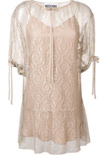 Moschino Vestido Com Amarração - Neutro