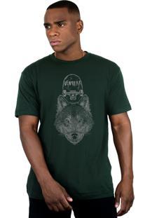 Camiseta Ventura Wolfskater Verde