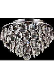 Plafon Sobrepor De Cristal Kri 24 Cmx27 Cmxx Bella Iluminação Transparente