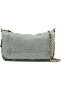 Jérôme Dreyfuss Bobi Crocodile-Embossed Shoulder Bag - Verde