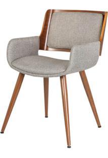 Cadeira Sonia Tecido Linho Cor Bege - 31696 - Sun House