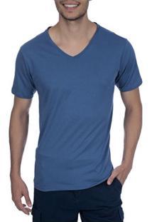 Camiseta Masculina Azul Lisa - Gg