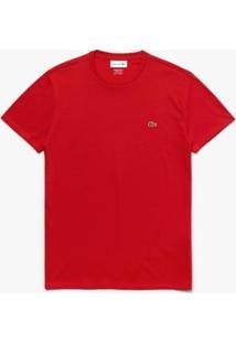 Camiseta Lacoste Masculino - Masculino-Vermelho