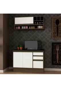 Cozinha Compacta Safira 3 Pt 3 Gv Branca E Avelã