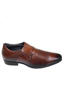 Sapato Masculino Social Super Confort Pegada Marrom
