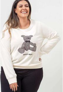 Blusa Estampada Almaria Plus Size Garage Gola Redo