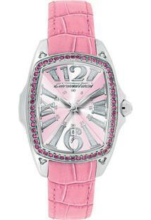 877d8f38aa5 ... Relógio De Pulso Chronotech Prisma Lady Night - Aço - Feminino -Prata+Rosa