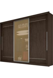Guarda-Roupa Greco New Reflecta - 3 Portas - 100% Mdf - Malbec