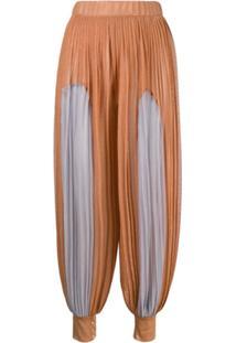 Atu Body Couture Calça Com Pregas - Laranja
