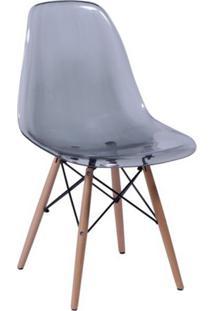 Cadeira Eames Base Madeira E Fumê